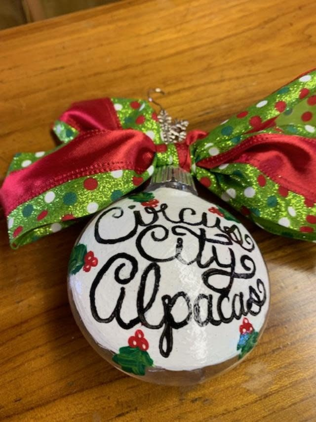 Circus City Alpaca Christmas Ornament, Circus City 6 in