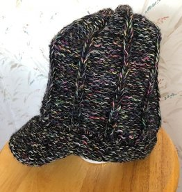 Andean Art Alpaca Hat w Bill Adult size Multicolored