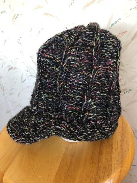 Andean Art Alpaca Hat w Bill Adult size Multicolored