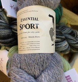 NFP Alpaca Yarn, Sport Wt, NFP Moody Blue