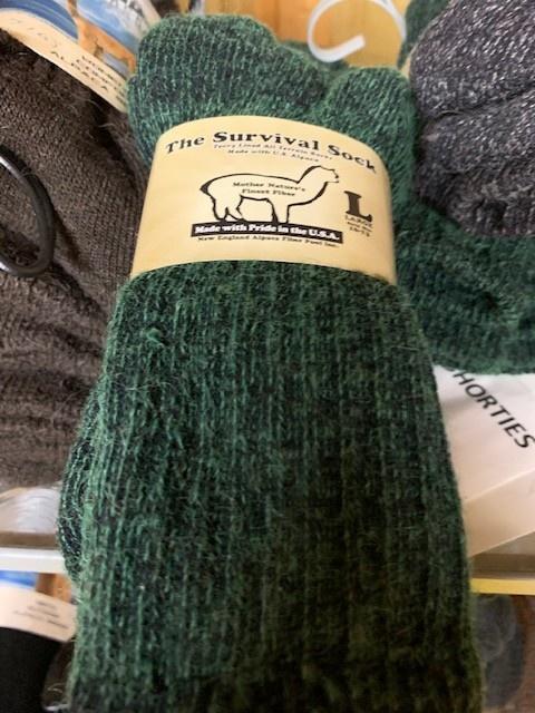 NEAFP Alpaca Socks, Survival Sock, Crew Length L Fawn