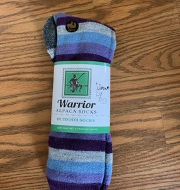 Sun Valley Alpaca Alpaca Socks, Women, Bl/Purple/Gray Lg