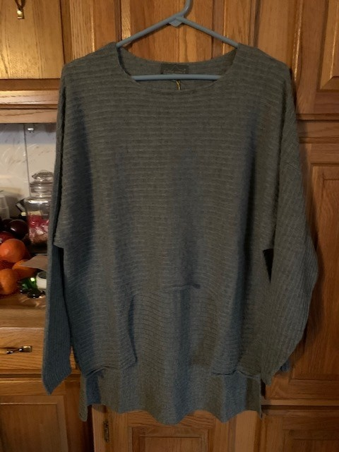 Classic Alpacas Alpaca Sweater, Gray, Pullover L