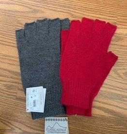Classic Alpacas Alpaca Fingerless Gloves, heavy  Red or Charcoal Lg