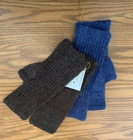 Classic Alpacas Alpaca Fingerless Gloves, Med.  Blue or Brown