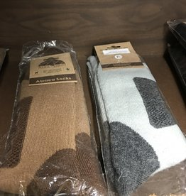 Andean Sun Alpaca Socks , Outdr, 1 Gray/1 Black L Aloe Infused