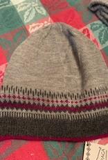 Classic Alpacas Alpaca Hat, Grey/Charcoal with designs