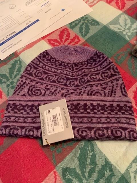 Classic Alpacas Alpaca Hat, Lilac mlge/Purple