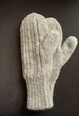 Andean Art Alpaca Mittens, Heavy weight, Gray Med