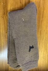 Lanart Alpaca Socks, Brown w Alpaca, Heavy Md/Lg