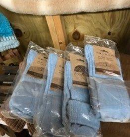 Alaskan Alpaca Socks, Youth/Sm Adult Lt Blue