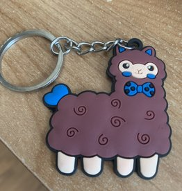 Choice Alpacas Alpaca Keychains, Red, white, brown