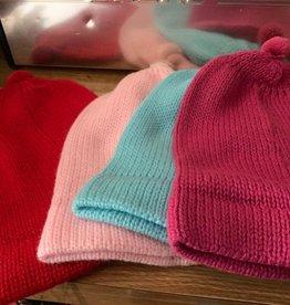 Andean Art Alpaca Beanie Hat, Med Lt/DK Pink,Red,Torquoise