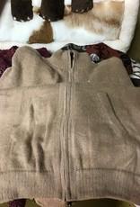 Alpaca Mall Alpaca Sweater, Men's Fawn w Zipper/Pockets
