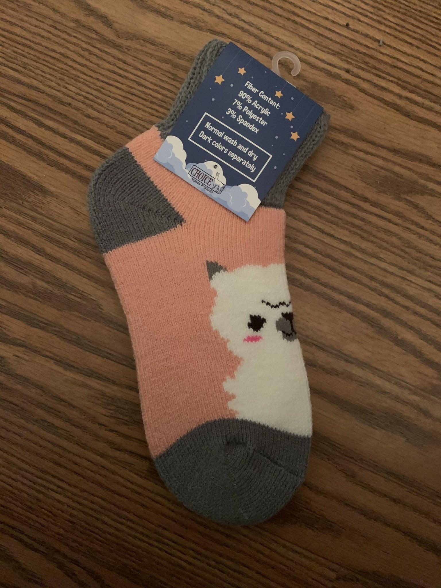 Choice Alpacas Alpaca Slumber Socks, pink, One size Fits All