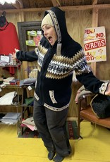 Alpaca Mall Alpaca Sweater, BlackwBr Design XL Unisex