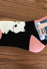 Choice Alpacas Alpaca Slumber Socks, Blackw White/Pink