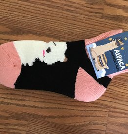 Choice Alpacas Alpaca Slumber Socks, Blackw White/Pink
