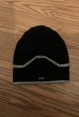Alpaca Mall Alpaca Hat, Black with Gray Stripe