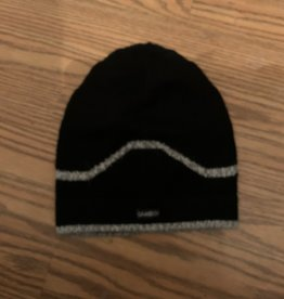 Alpaca Mall Alpaca Hat, Black with Gray Stripe