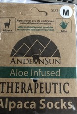 Andean Art Alpaca Socks, Therapeutic, Blk(4) Camel (2)  Med