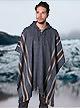 Alpaca Mall Alpaca Poncho, Gray Hooded Rustic