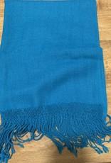 Alpaca Mall Alpaca Shawl, Solid Blue