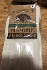 NEAFP Alpaca Socks, Therapeutic Wh M (7-10)