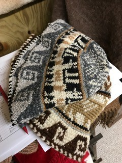 Alpaca Hat, Sheep Roll, Blk or Brown