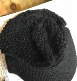 Alpaca Hat, Billed Cap, Small Black