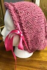 Alpaca Hat, Pink Tweed Slouchy