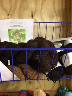 Alpaca Yarn, Livingston,  Worsted, Dk Br. 120 y