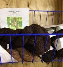 Alpaca Yarn, Livingston, Worsted Dk Br 94 y