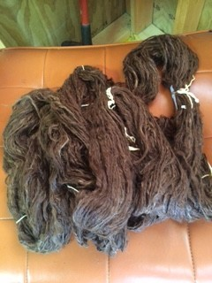 Alpaca Yarn, Eli, Suri, Lockspun, Dark Brown 80Y