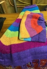 Alpaca Hat/Poncho Striped Child's