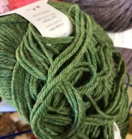 Alpaca Yarn, Green Heather, DK 50 g