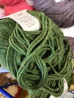 Alpaca Yarn, Green Heather, DK 50 g