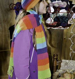 Alpaca Hat and Scarf, Striped Sock Cap