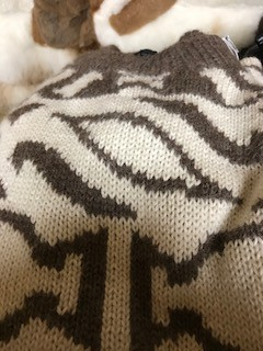 Alpaca Sweater, XXL, Men's,Natural/Grey Pull-over