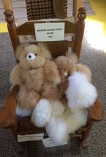 Alpaca Teddy Bears, 12 inch, White, Fawn, Mixed