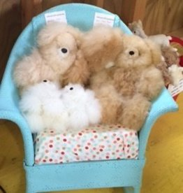 "Alpaca Teddy Bears, 5.5""  MIxed Colors"