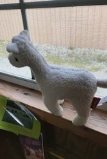 Alpaca, Soft Plush, White 5 inch