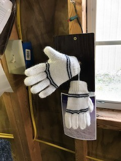 Andean Art Alpaca Gloves, Child's White, Earth Colors