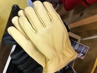 Choice Alpacas Alpaca Gloves, Tan Leather, Alpaca-Lined XL, S,L, XXL