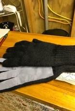 Alpaca Gloves, Driving , Leather Palms Camel L/SM
