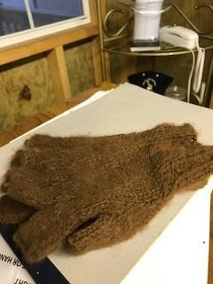 Alpaca Gloves, Fingerless Brown