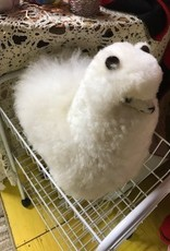 "Andean Art Alpacas, Stuffed 12"" White Standing Beige"