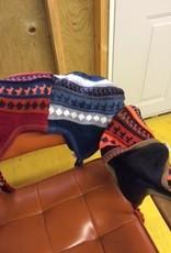 Alpaca Hat, Chullo Lined, Purple, Dk Gray,REd, Beige