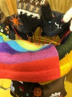 Alpaca Hat, Beanie, Striped Child's
