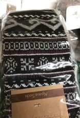 Andean Art Alpaca Socks, Pants, Purple with White Design